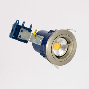 Lampsy Metro Recessed Downlight - Fire Rated - Satin Chrome-Lampsy