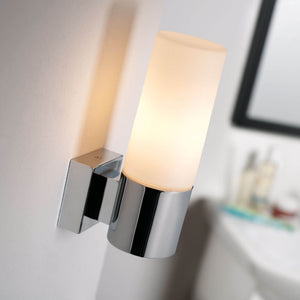 Nordlux Tangens Bathroom Wall Light - Brushed Steel - Bathroom - Lampsy
