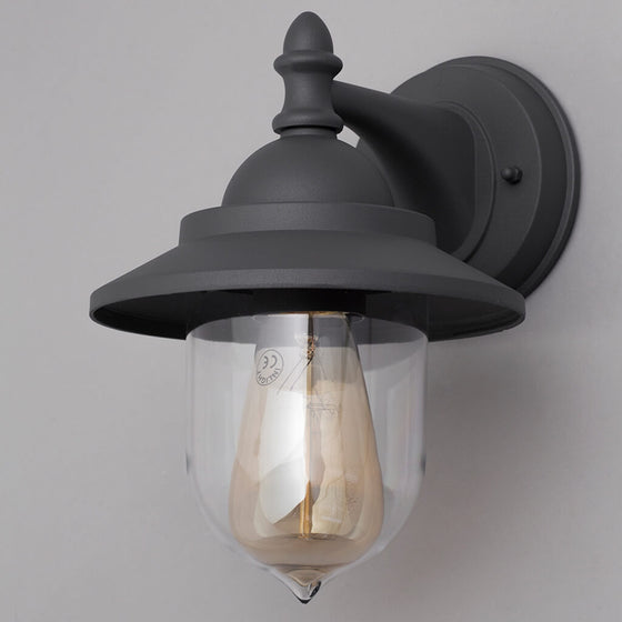 Union Anthracite Mini Fishermans Outdoor Wall Lantern
