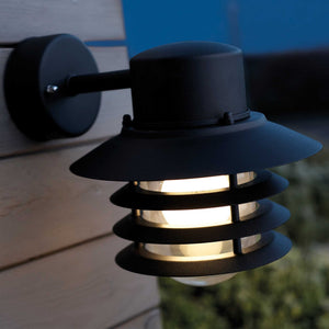 Nordlux Vejers Down Wall Lantern - Black-Lampsy