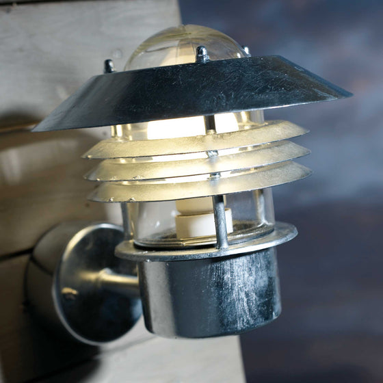 Nordlux Vejers Outdoor Wall Light - Galvanised Steel - Outdoor Lighting - Lampsy