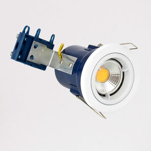 Lampsy Metro Recessed Downlight - Fire Rated - White-Lampsy