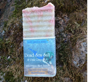Dead Sea Salt with Pink Grapefruit Handmade Natural Soap