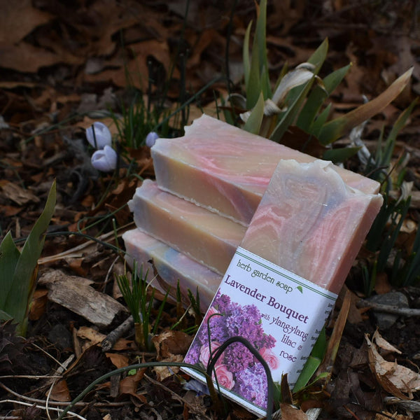 Lavender Bouquet Handmade Natural Soap