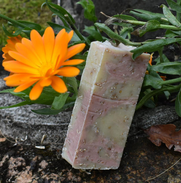 Oat Calendula Rose Natural Soap