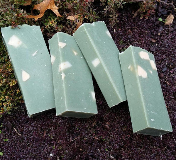 Cedar Wood Shave with French Green Clay Handmade Natural Soap