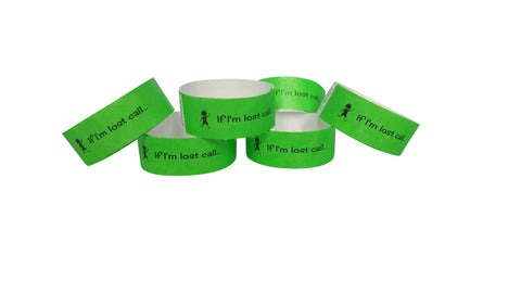 Tyvek wristbands - Vivid green (boys)