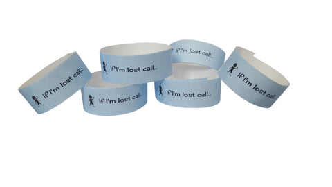 Tyvek wristbands - Sky blue (boys)
