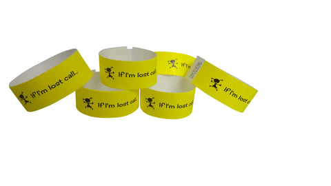 Tyvek wristbands - Vivid yellow (girls)