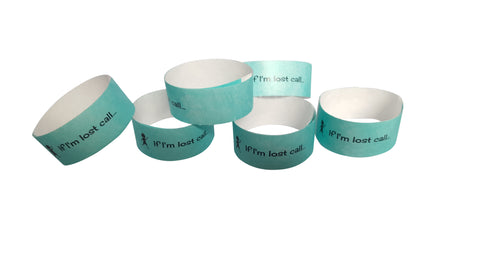 Tyvek wristbands AQUA (boys)