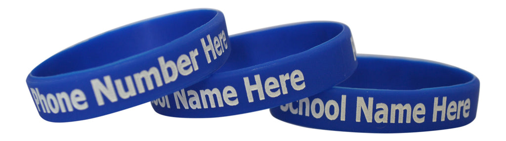 Customised Silicone Wristbands for schools and groups