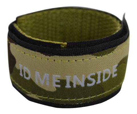 Kids Eco-ID wristband in camouflage