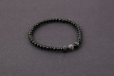 CZ Diamond Beaded Black Onyx