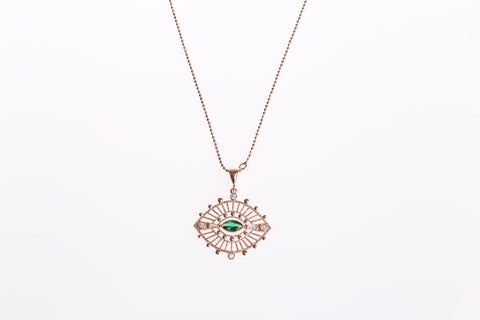 Verde Evil Eye Necklace