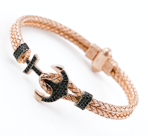 Rose Anchor Bangle