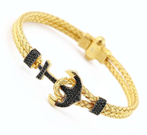Yellow Anchor Bangle