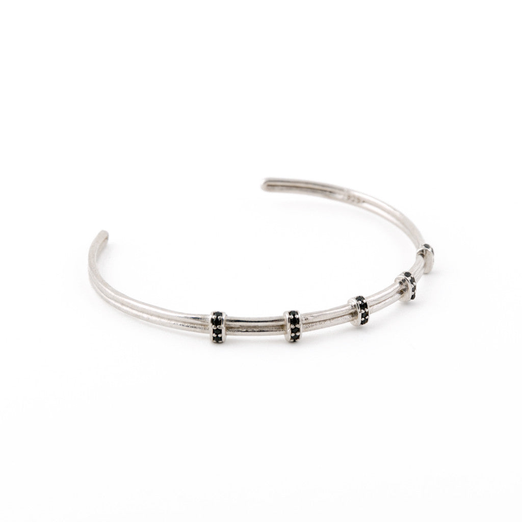 Sterling Silver Jolly Rodger Bangle