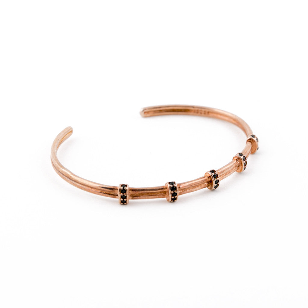 Rose Gold Jolly Rodger Bangle