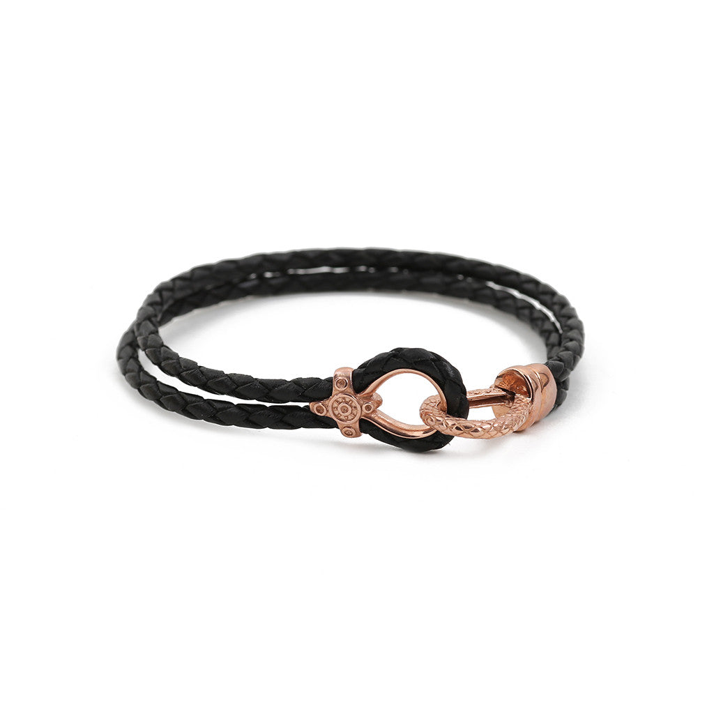 Rose Gold Black Nappa