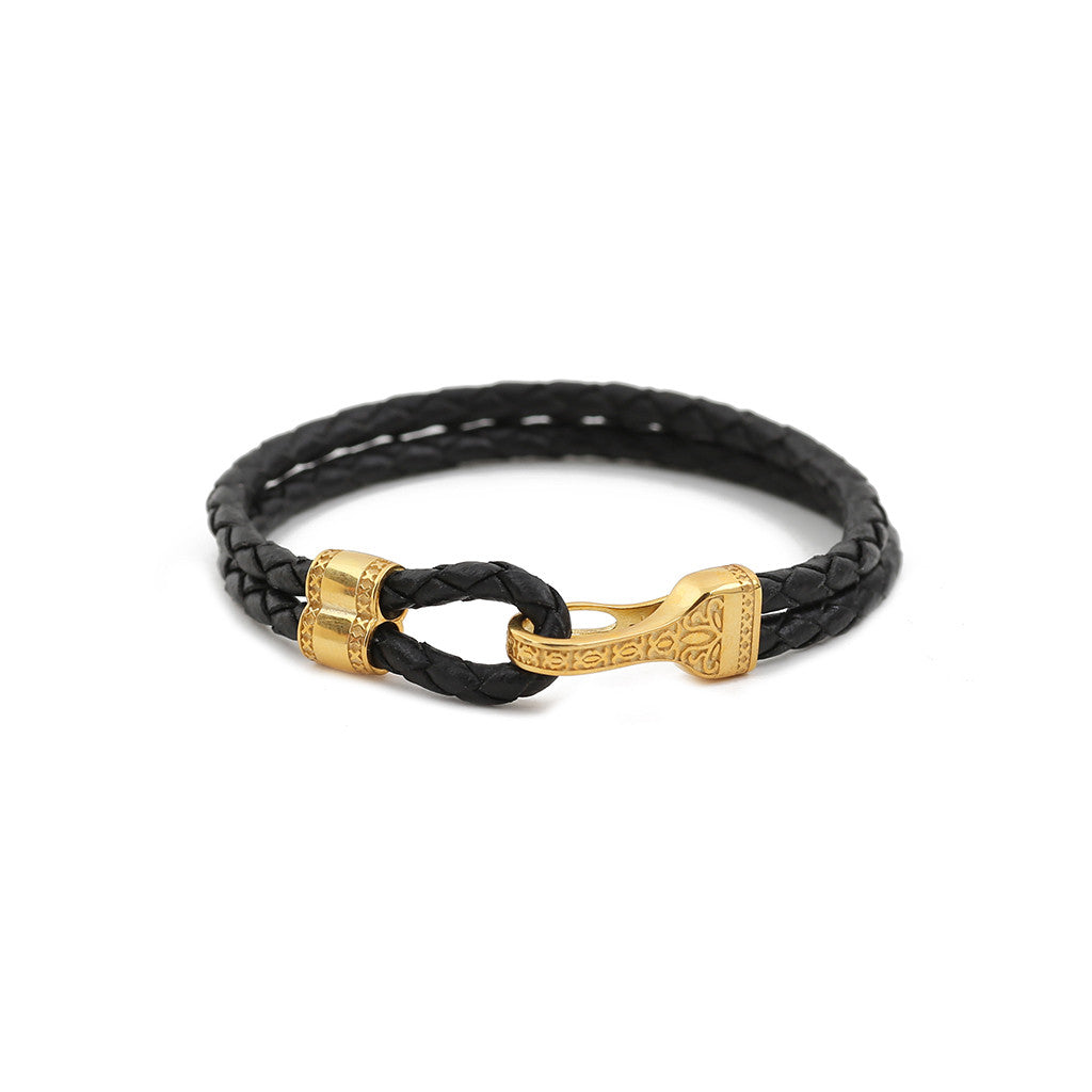 Gold Plated Black Nappa