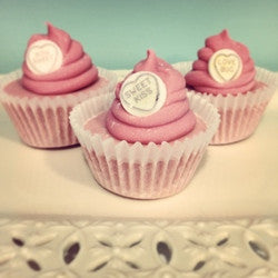 Cupcake Soap - Sweet Hearts