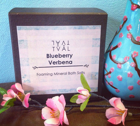 Foaming Mineral Bath Salt - Blueberry Verbena