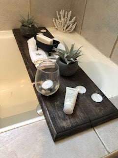 Handmade Cedarwood Bath Caddy by Matt's Roughcuts