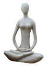 Lotus Yoga Goddess - Sandstone 8""