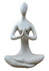 Meditative Yoga Goddess - Sandstone 8""