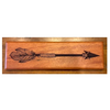 Arrow of Protection Etched Mahogany - Woodland Woodworx