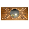 Triple Moon Goddess Mirror 3D Layered Walnut & Maple - Woodland Woodworx