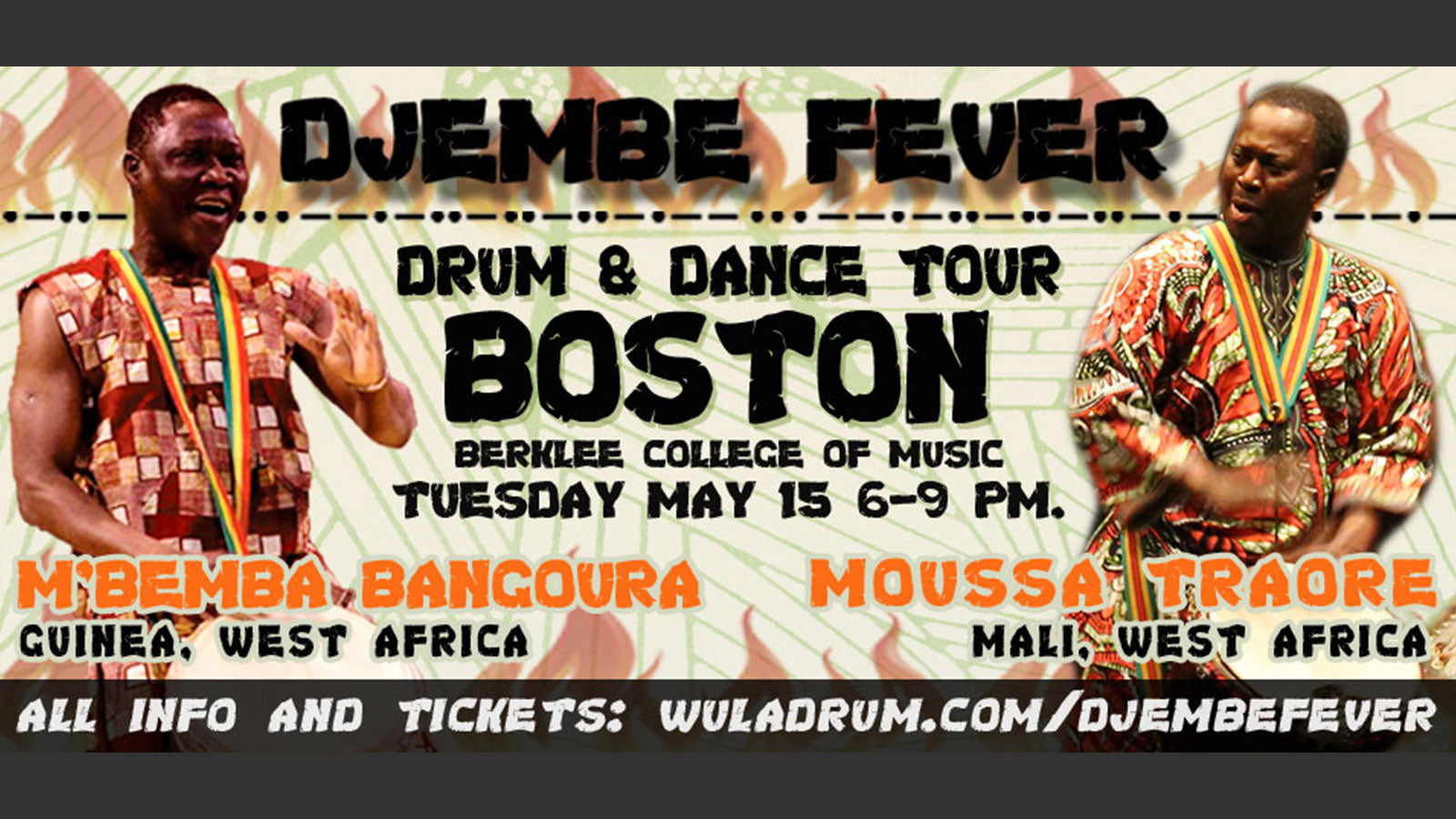 Djembe Fever Tour in Boston (with Moussa Troare!)
