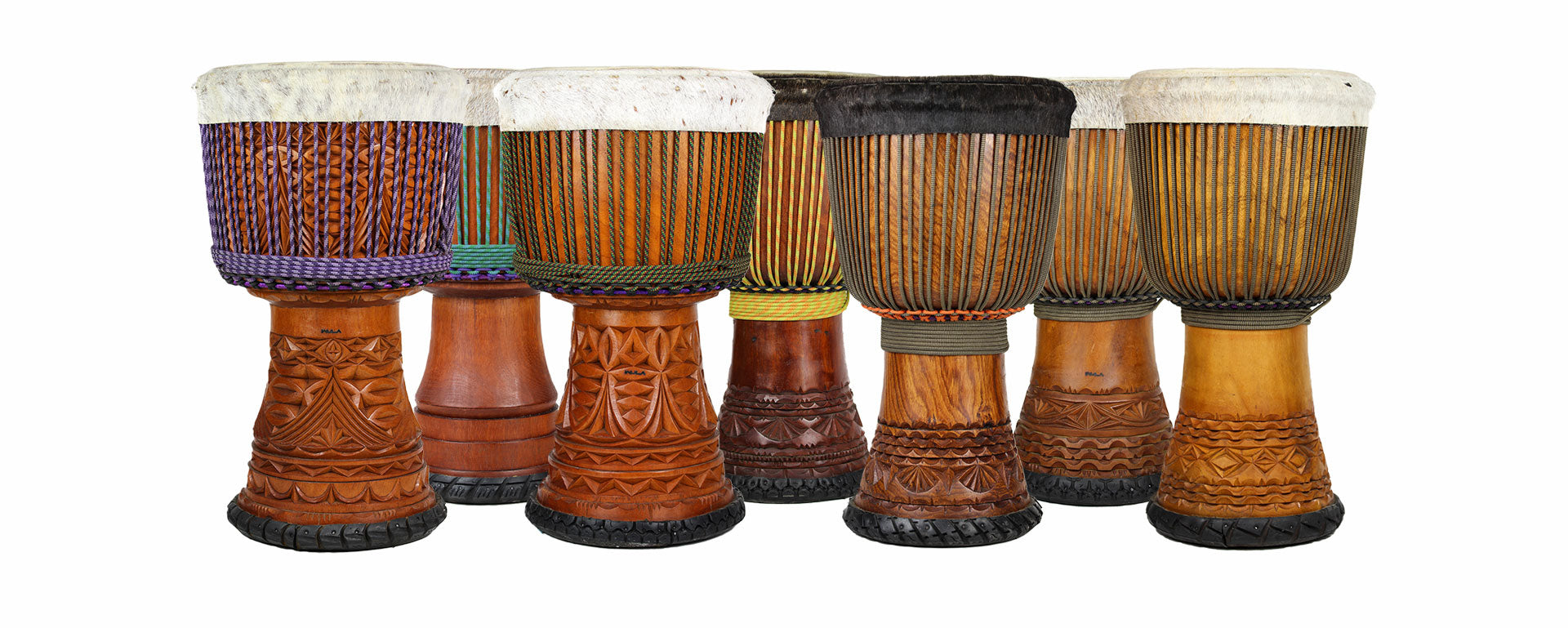a full range of djembe models