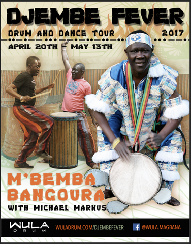 Djembe Fever Tour Flyer