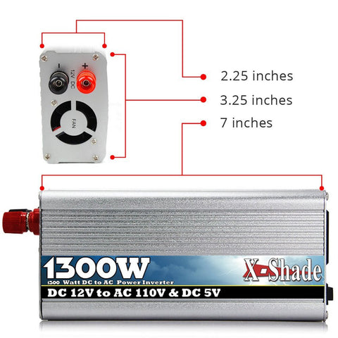 POWER INVERTER  1300 Watt - testing - 5