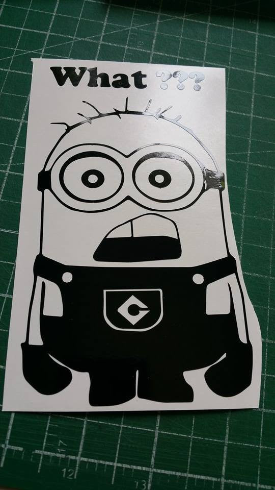 What??? Minion Sticker