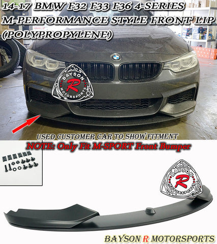 14-17 BMW F32 F33 F36 4-Series M-Performance Style Front Bumper Lip (Polypropylene)