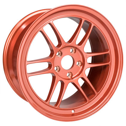 Enkei RPF1 18x9.5 5x114.3 38mm Offset 73mm Center Bore Orange Wheel