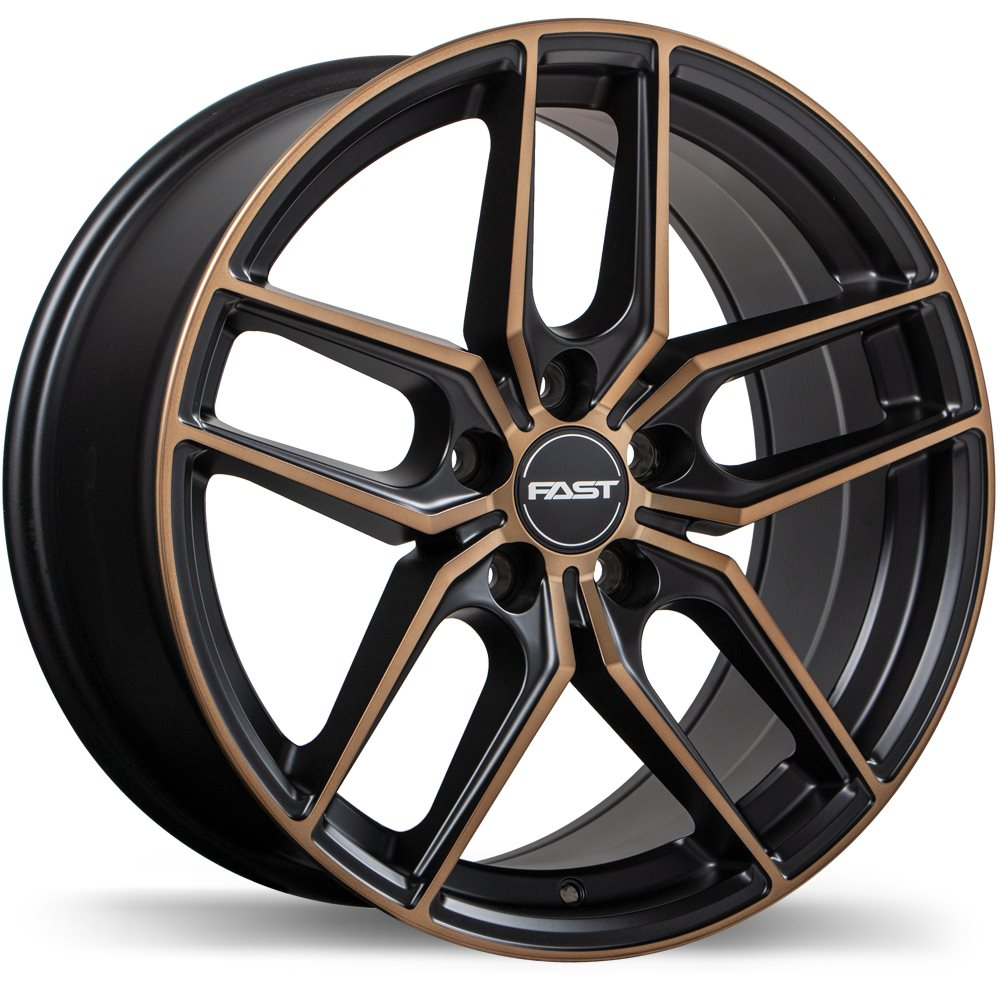Fast Aristo Satin Black with Machined Face and Bronze Wheels