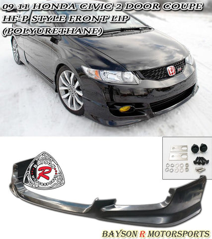 09-11 HONDA CIVIC 2DR COUPE HFP-STYLE FRONT LIP (POLYURETHANE)