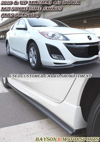10-13 Mazda 3 M'Z style Side Skirt Sills (Add On)