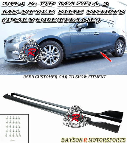 14-18 MAZDA 3 4/5DR MS-STYLE SIDE SKIRTS (POLYURETHANE)