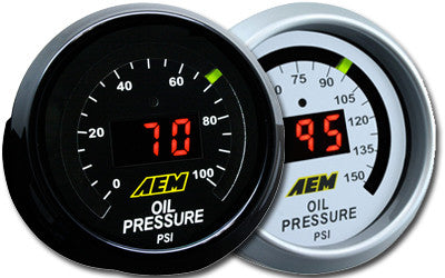 AEM Digital Oil Pressure Display Gauges