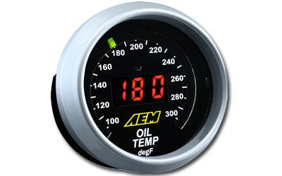 AEM Digital Oil Temperature Display Gauge