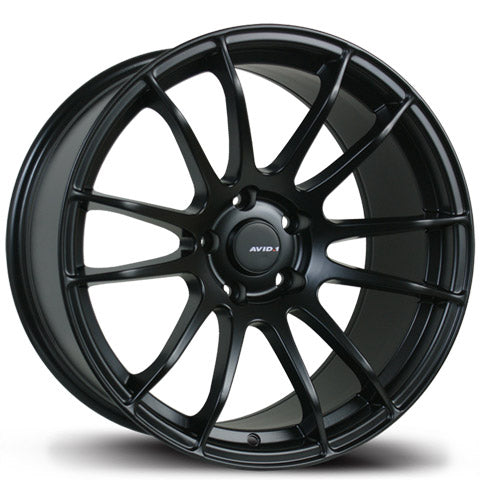 AVID.1 WHEELS AV-20 MATTE BLACK 18X9.5 +38 5x114.3