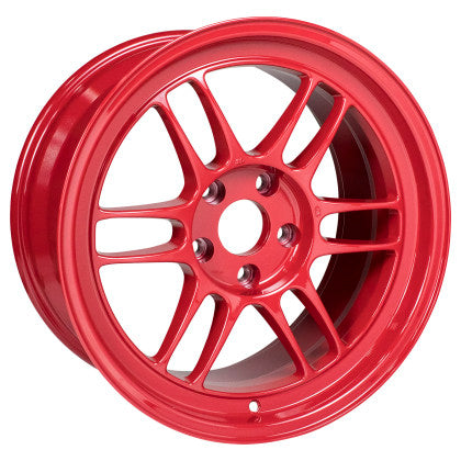 Enkei RPF1 17x9 5x114.3 22mm Offset 73mm Bore Competition Red Wheel