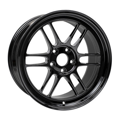 Enkei RPF1 18x9.5 5x114.3 38mm Offset 73mm Bore Gloss Black Wheel