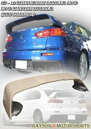 08-17 MITSUBISHI LANCER / EVOLUTION X (EVO 10) MR-STYLE TRUNK SPOILER WING (ABS PLASTIC)