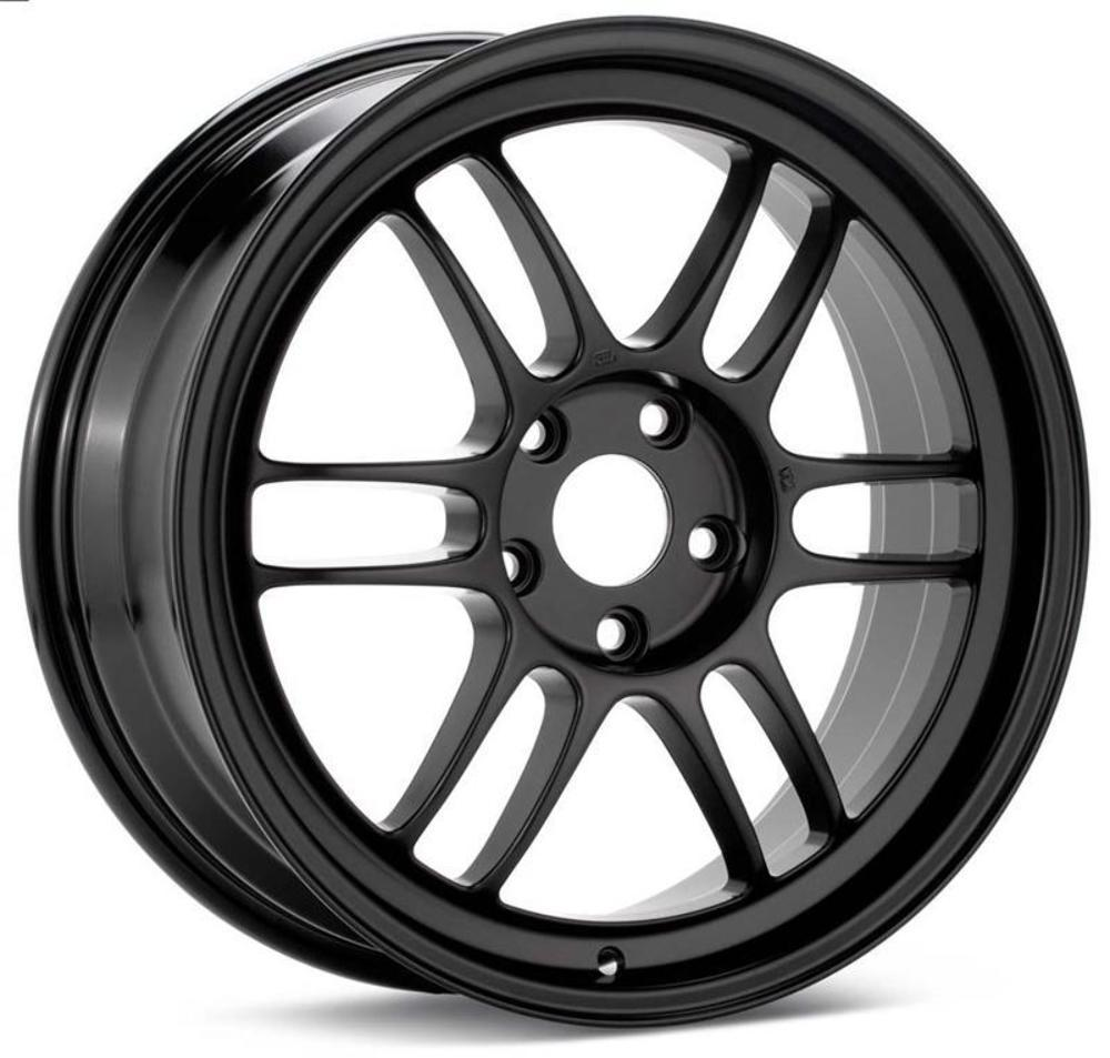 Enkei RPF1 18x9.5 5x114.3 15mm Offset 73mm Bore Gloss Black Wheel