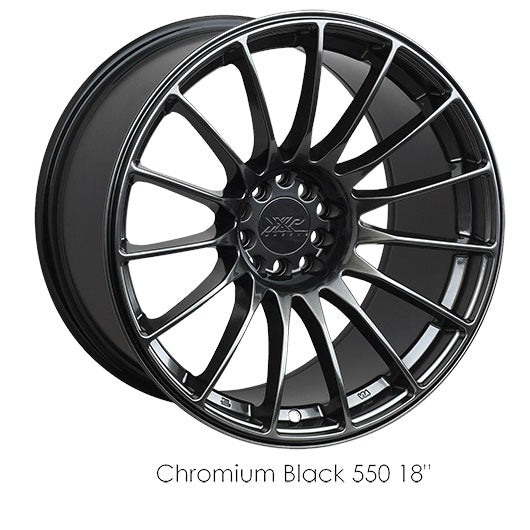 XXR 550 CHROMIUM BLACK 18X8.75 +36 5x100/114.3